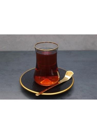 Koleksiyon Serpantin Siyah 6 Lı Çay Seti Renkli